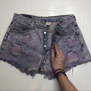 🆕 LEVIS / vintage 501 high waist denim shorts